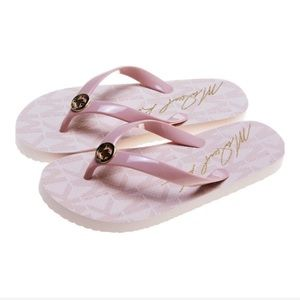 Micheal Kors PVC Jet Set Pink Women's Flipflop's